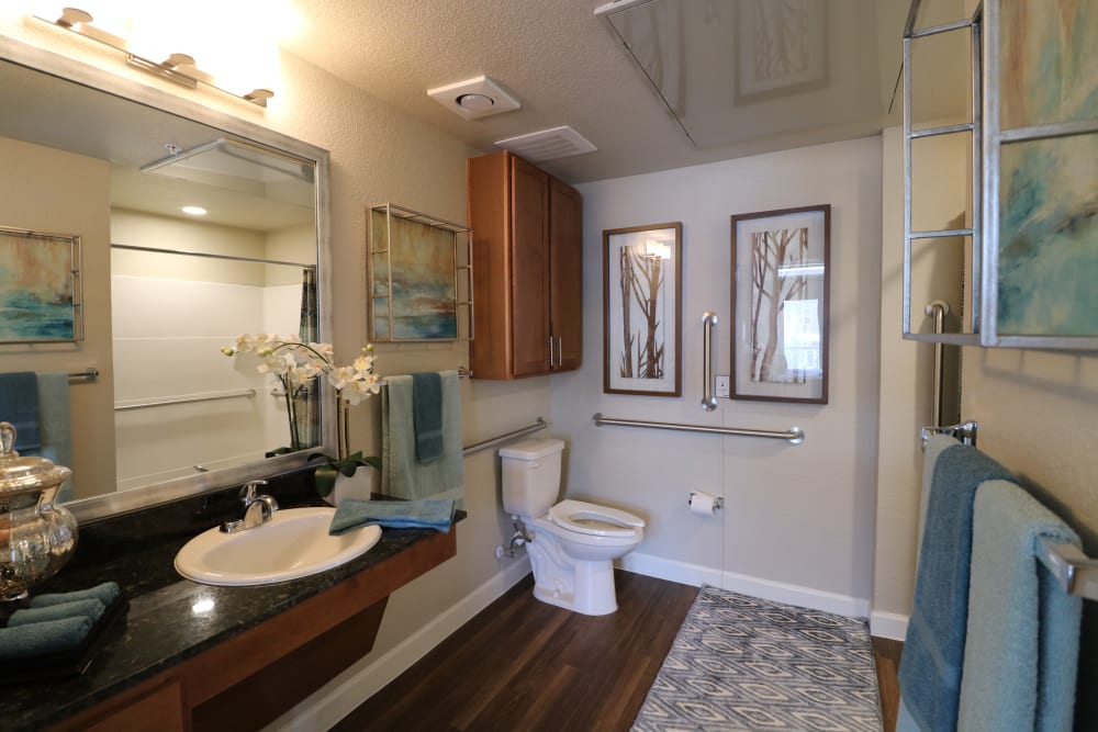 Roomy bathroom at Landing at Watermere Frisco in Frisco, Texas
