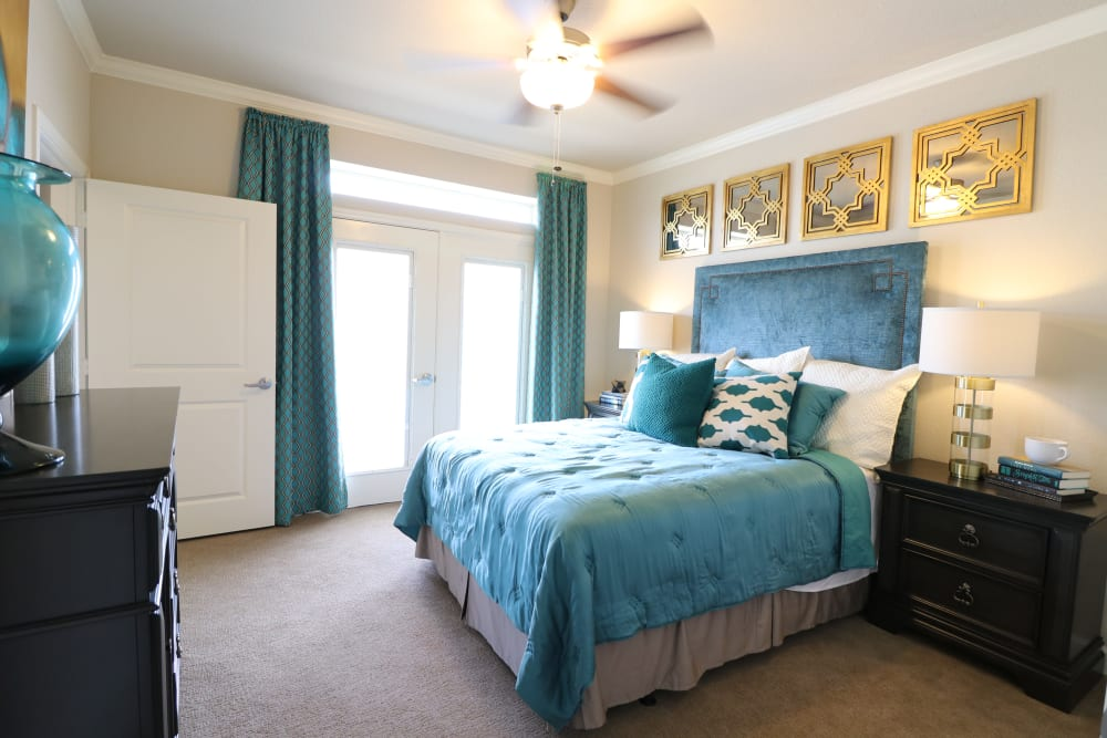 Spacious, well-appointed bedroom at Landing at Watermere Frisco in Frisco, Texas