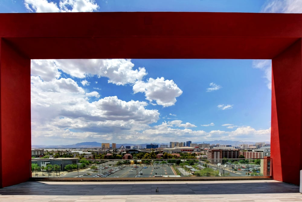 view from deck at the yoU in Las Vegas, NV