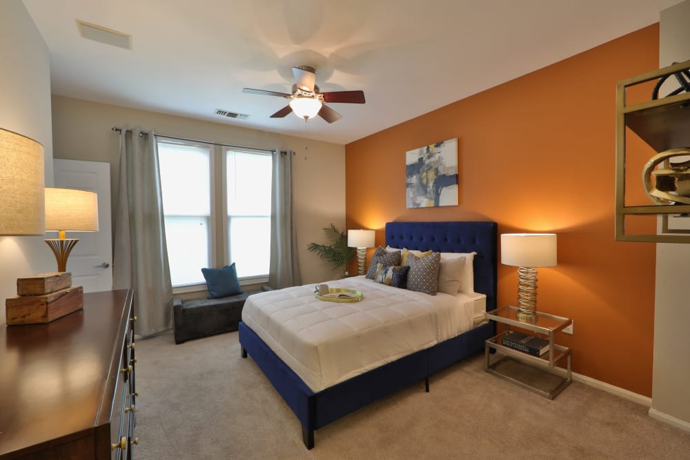 Beautiful Bedroom at The Village at Potomac Falls Apartment Homes in Sterling, Virginia