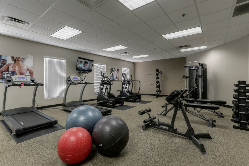 Enjoy Apartments with a Fitness Center at Jackson Grove Apartment Homes