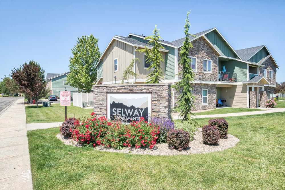 Entrance Signage at Selway Apartments in Meridian, Idaho