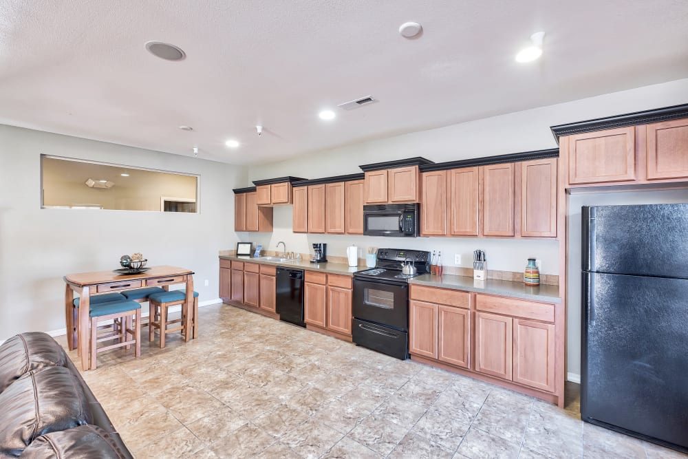 Resident Clubhouse Kitchen at Selway Apartments in Meridian, Idaho