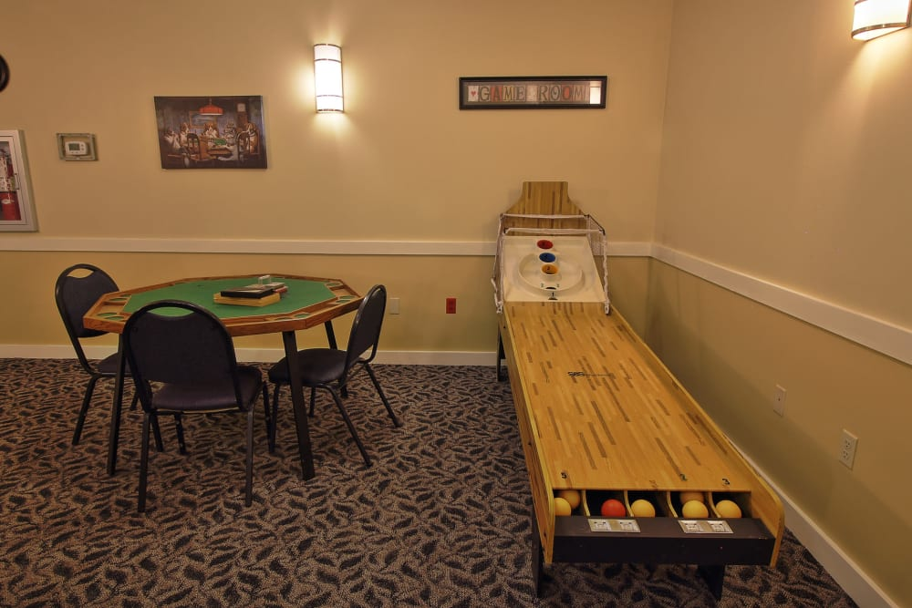 Game room at The Groves at Oak Ridge in Oak Ridge, Tennessee