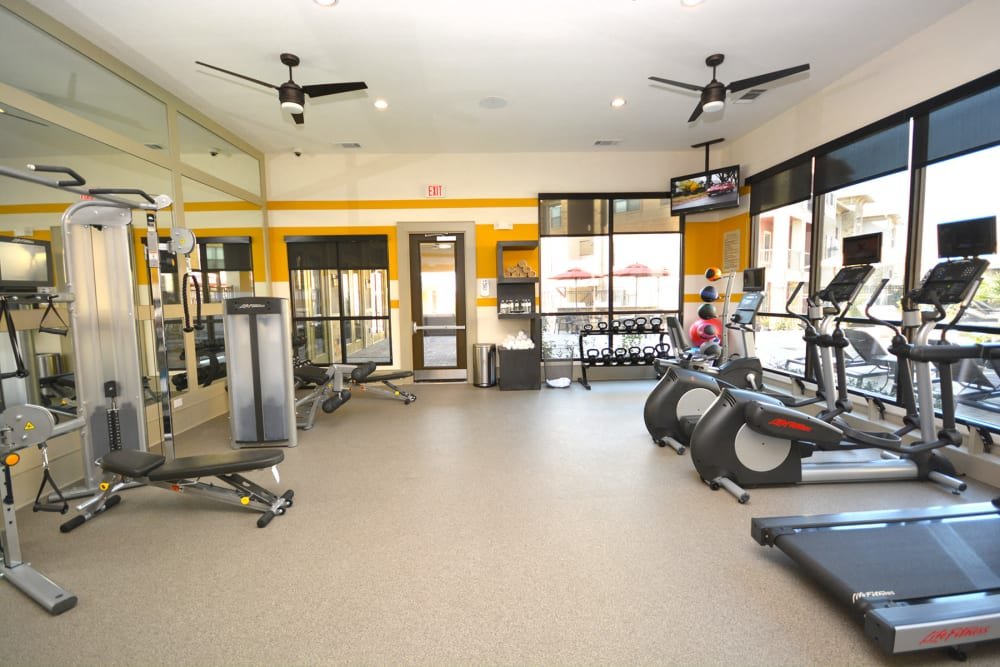 Fitness center at The Sovereign in Fort Worth, Texas