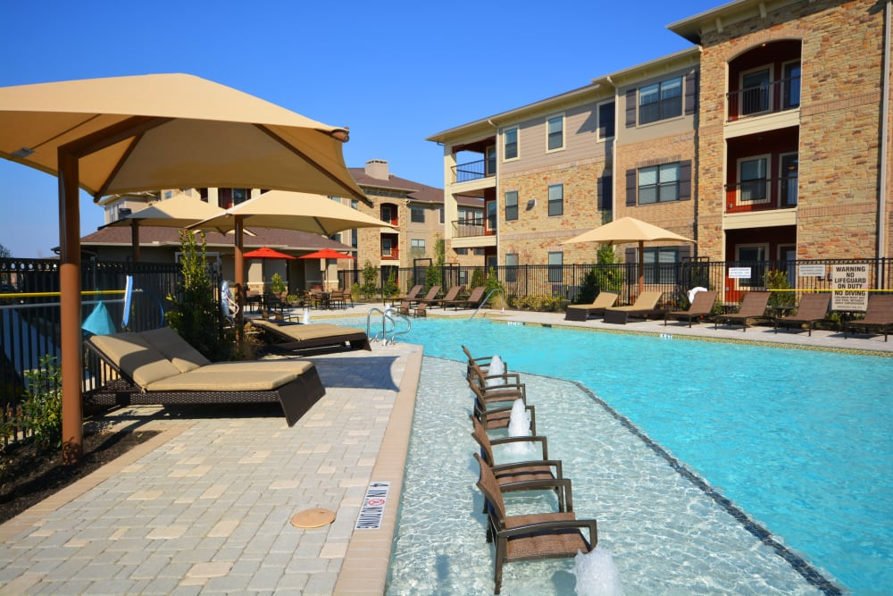 Swimming pool at The Sovereign in Fort Worth, Texas