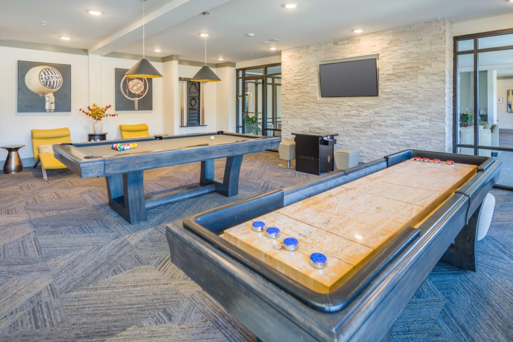 Shuffle board at Leigh House in Raleigh, North Carolina