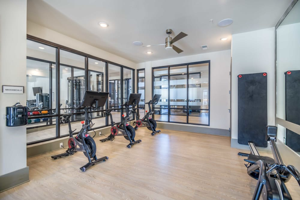 Fitness center at Leigh House in Raleigh, North Carolina