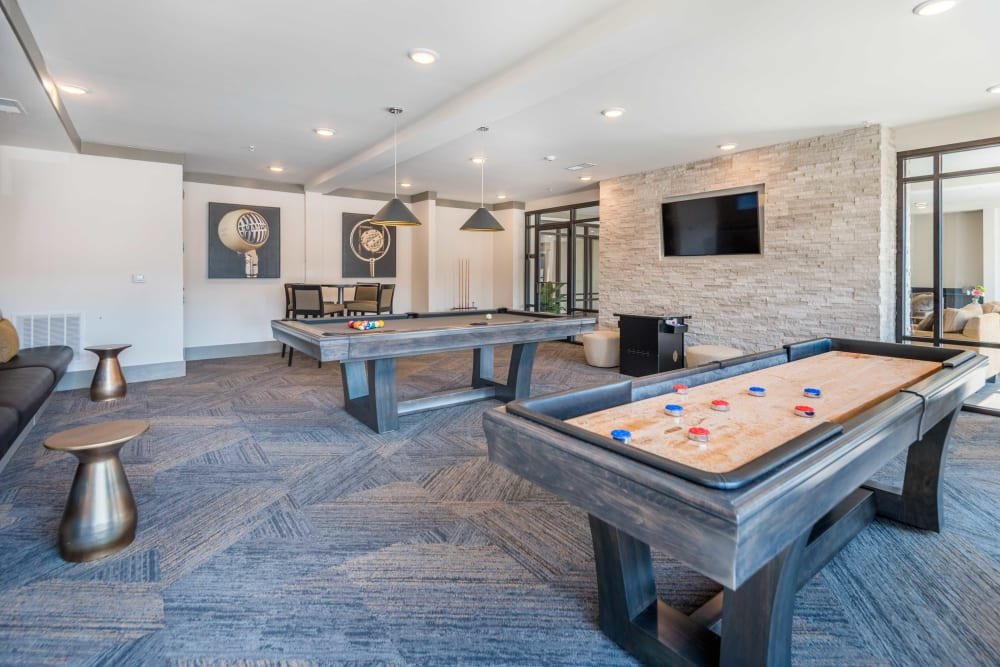 Pool table at Leigh House in Raleigh, North Carolina