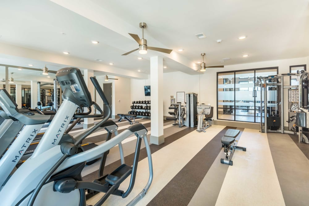 Workout room at Leigh House in Raleigh, North Carolina