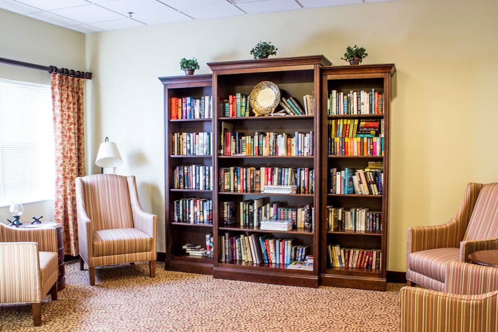 A quiet reading area at Rivercrest Place in Paducah, Kentucky
