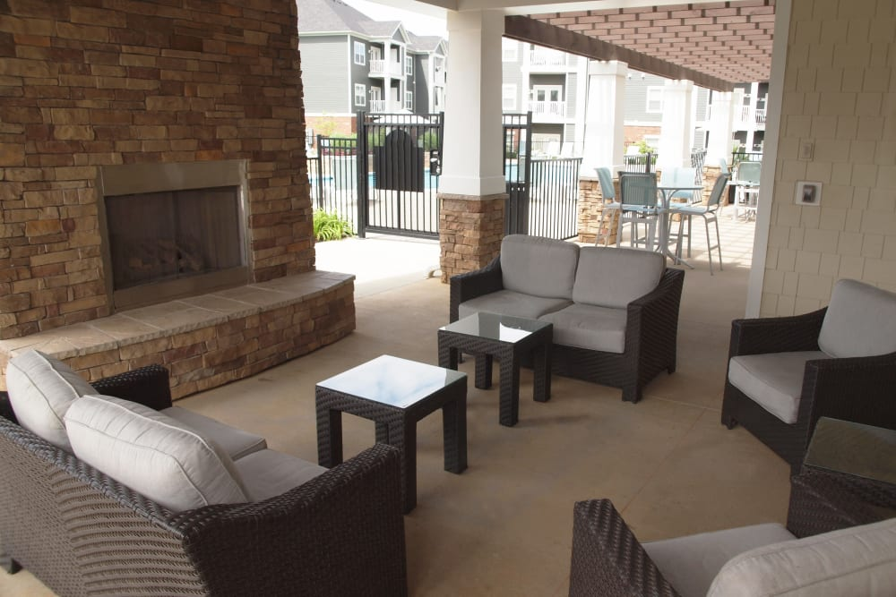 Clubhouse community space at Greyson on 27 in Nicholasville, Kentucky