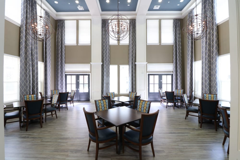 A dining hall at an Integrated Senior Lifestyles community
