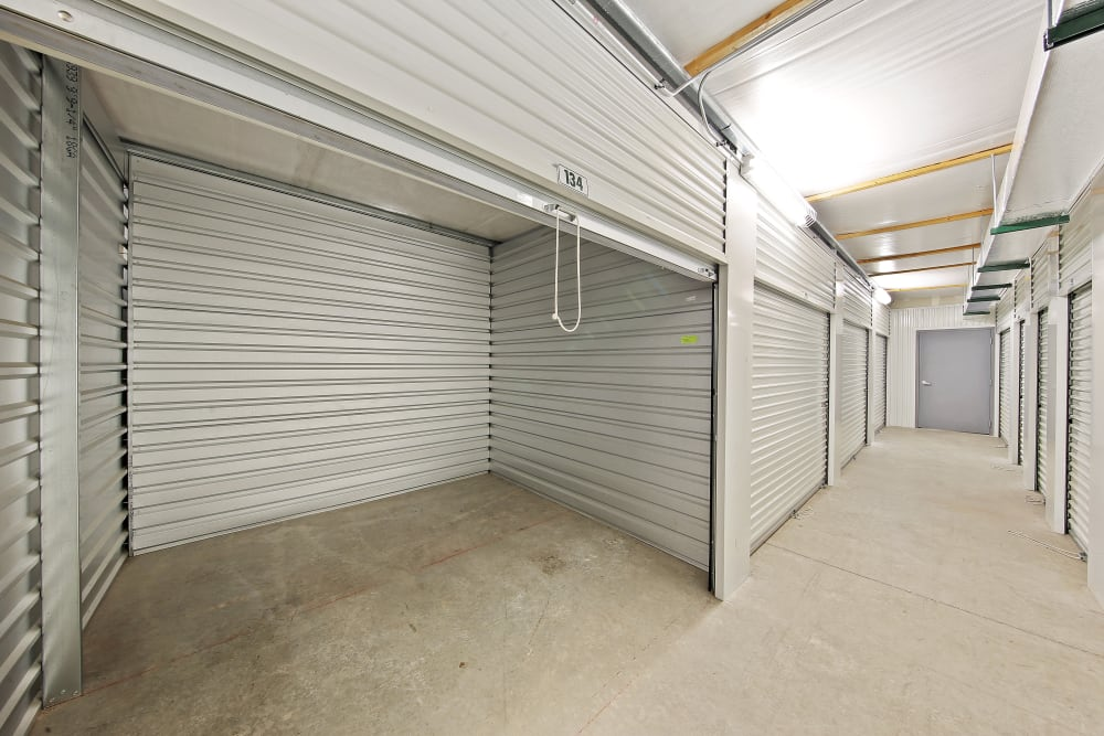 Indoor storage units at Global Self Storage in Dolton, Illinois