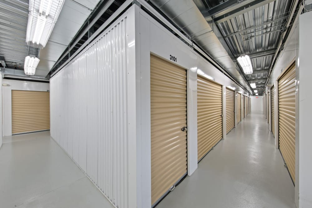 Interior units at Global Self Storage in Sadsburyville, Pennsylvania