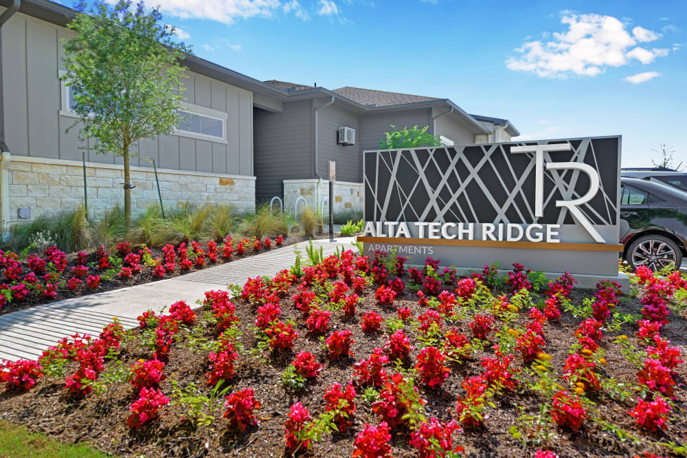 Front sign at Alta Tech Ridge in Austin, Texas