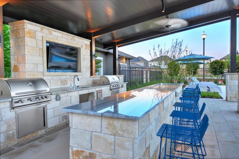 Alta Tech Ridge in Austin, Texas offers a BBQ station