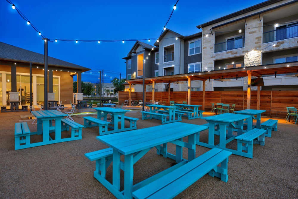 Picnic tables available at Alta Tech Ridge in Austin, Texas