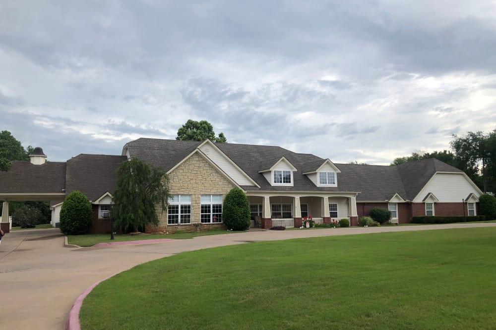 Exterior of main building at Ashbrook Village in Duncan, Oklahoma.