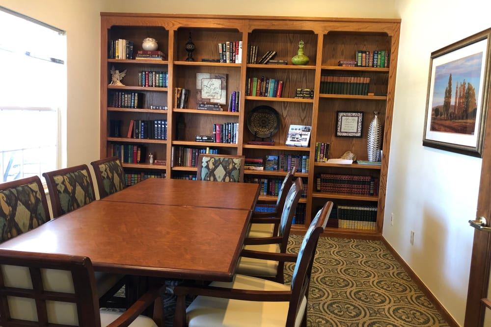 Library at Creekside Village in Ponca City, Oklahoma.