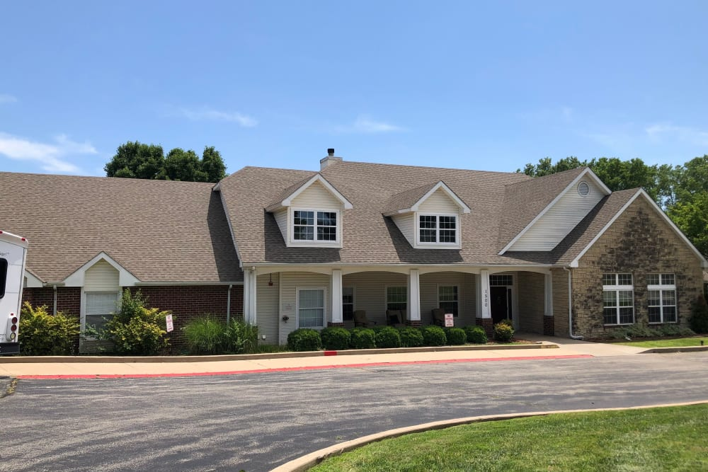 Exterior view of building at Creekside Village in Ponca City, Oklahoma.