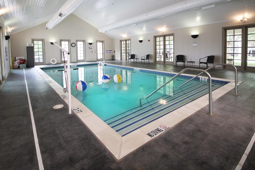 Swimming pool in Prestonwood Court in Plano, Texas
