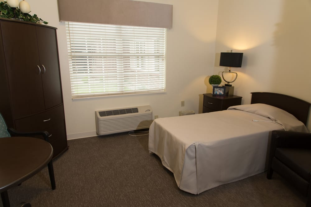 Single bedroom at Sanders Ridge Health Campus in Mt Washington, Kentucky