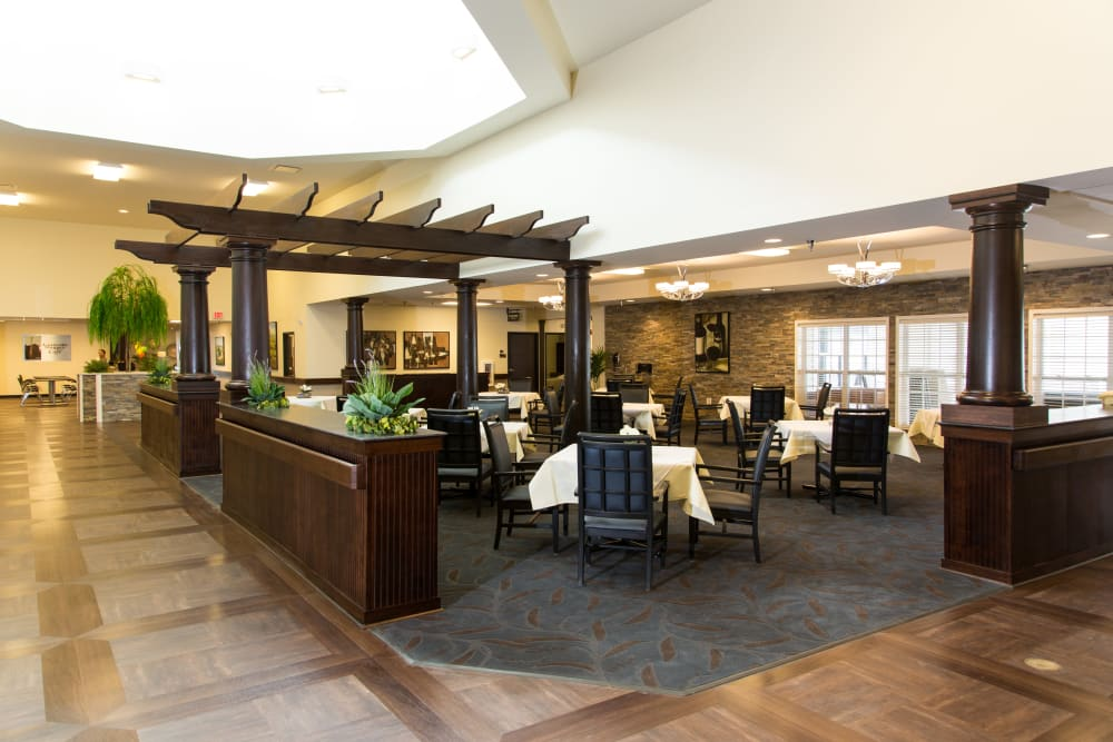 Common area at the center of Sanders Ridge Health Campus in Mt Washington, Kentucky