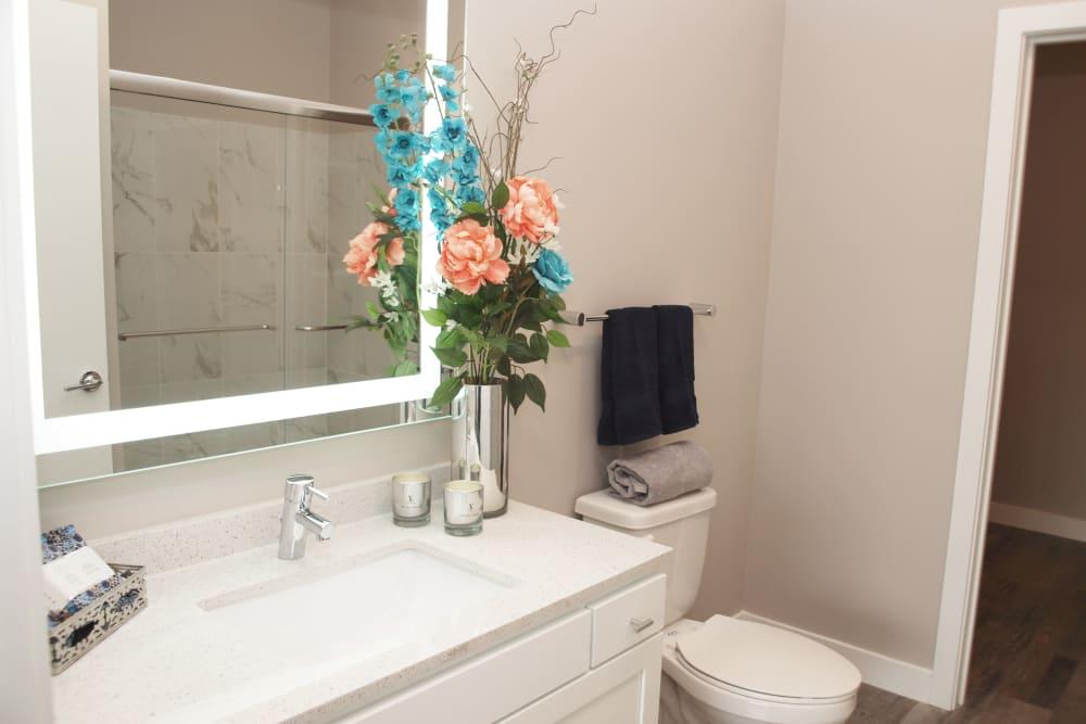 Bathroom at Element Oakwood in Dayton, Ohio