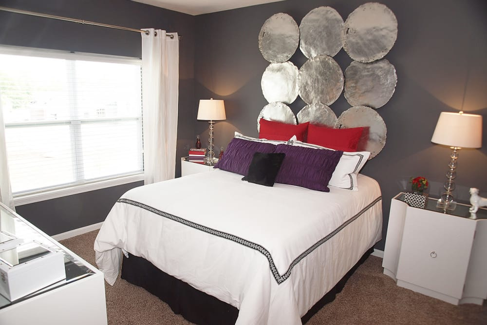 Bedroom with large window at Greyson on 27 in Nicholasville, Kentucky