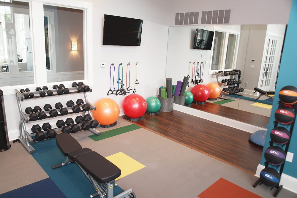 Fitness center at Greyson on 27 in Nicholasville, Kentucky