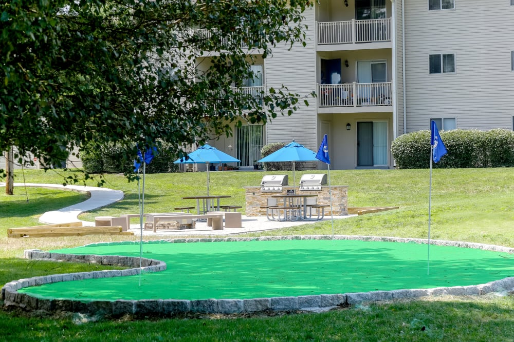 Enjoy Apartments with a Putting Green
