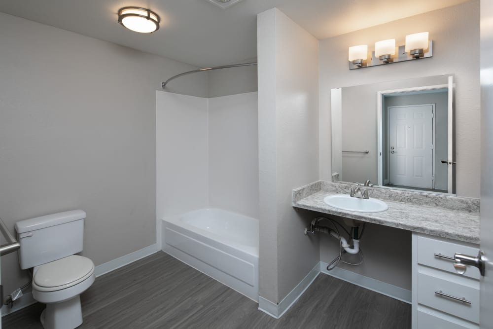 Renovated bathroom at Montair at Somerset Hill