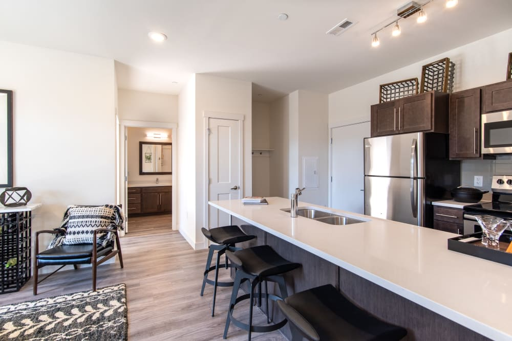 Kitchen at 6 West Apartments | Luxury Apartments in Edwards, Colorado