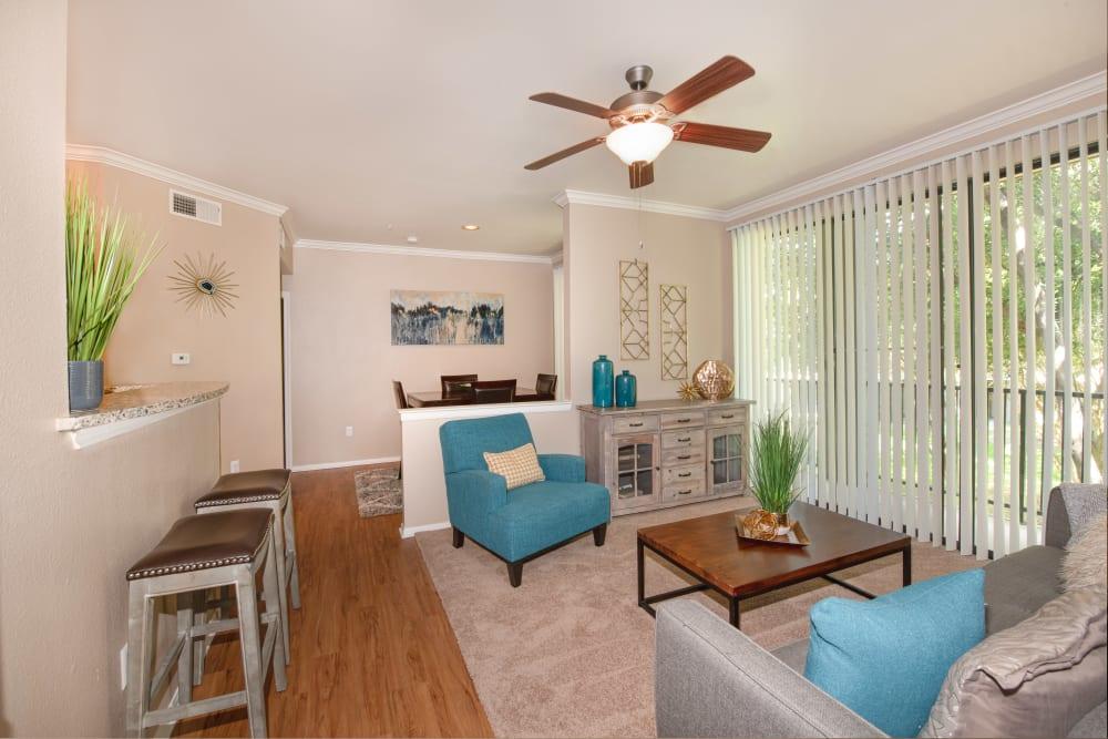 Spacious Living Room at Briargrove at Vail in Dallas, Texas