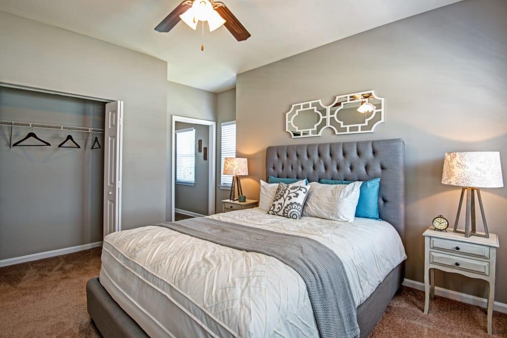 Master bedroom at The Flats @ 55 Twelve in Durham, North Carolina