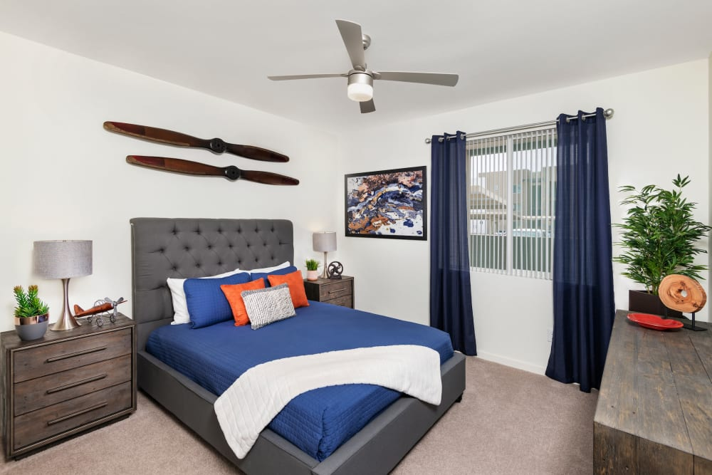 Bedroom at Sky at Chandler Airpark | Luxury Apartments in Chandler, Arizona
