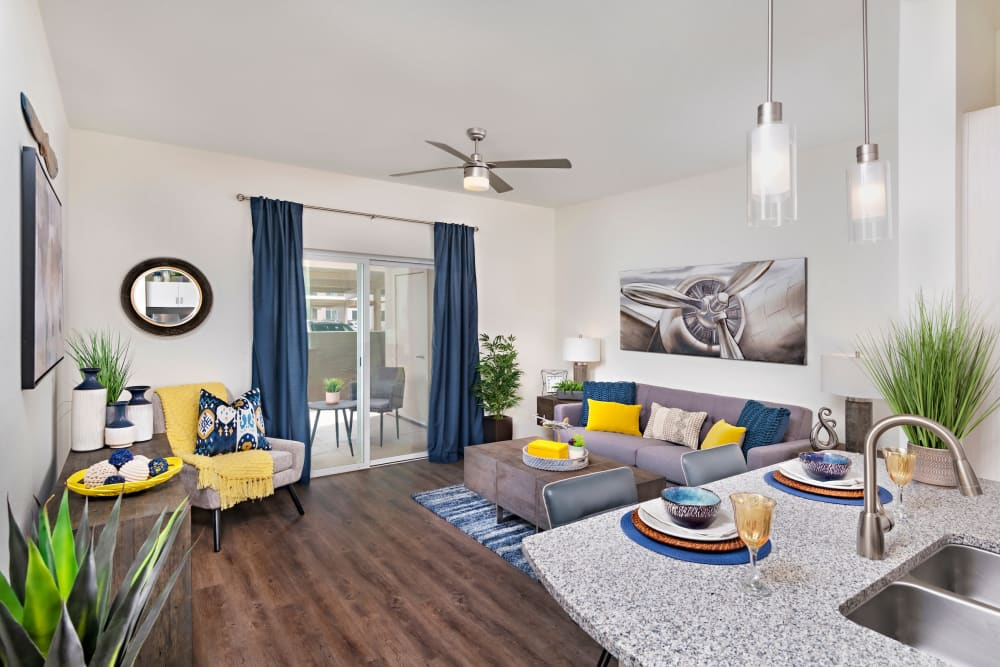 Beautiful Living Room at Sky at Chandler Airpark in Chandler, Arizona