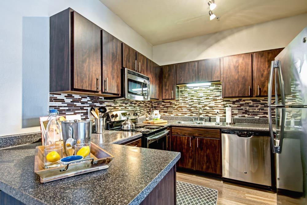 Kitchen appliances at The Flats @ 55 Twelve in Durham, North Carolina
