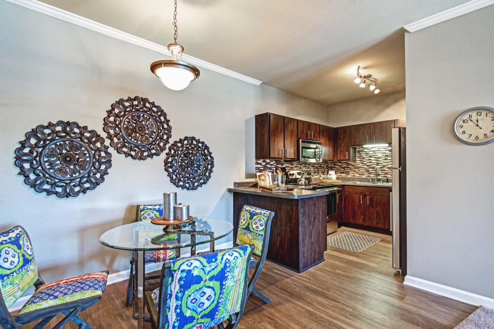 Dining room at The Flats @ 55 Twelve in Durham, North Carolina