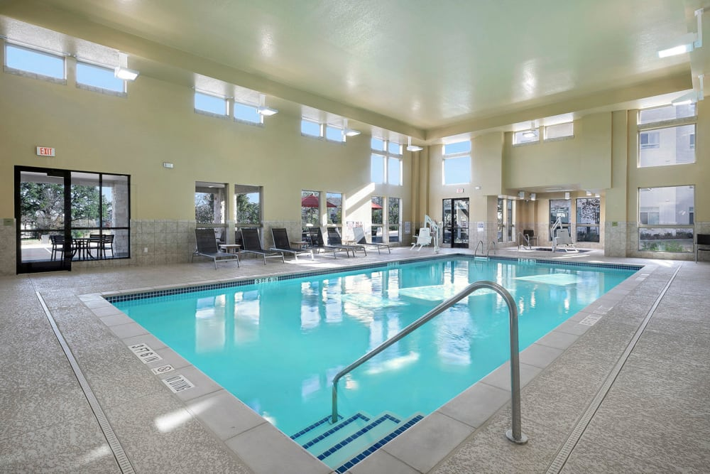 Indoor salt water pool at Affinity at Round Rock