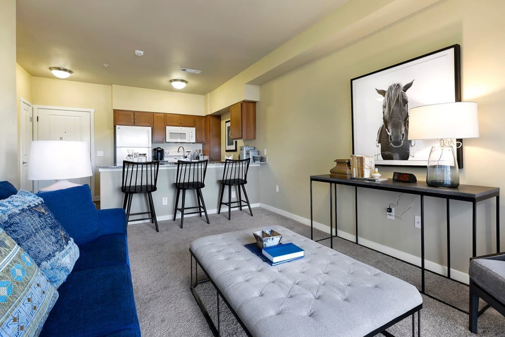 Living space at Affinity at Round Rock