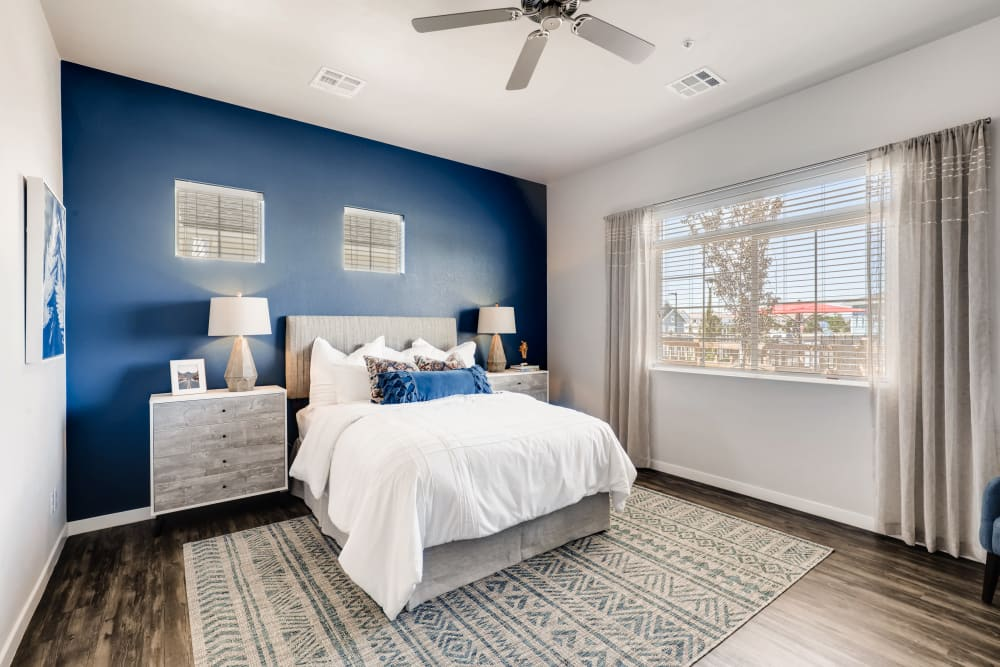 Master bedroom at Avilla Buffalo Run in Commerce City, Colorado
