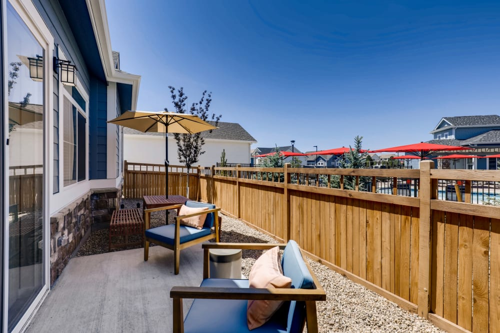 Outdoor furniture at Avilla Buffalo Run in Commerce City, Colorado