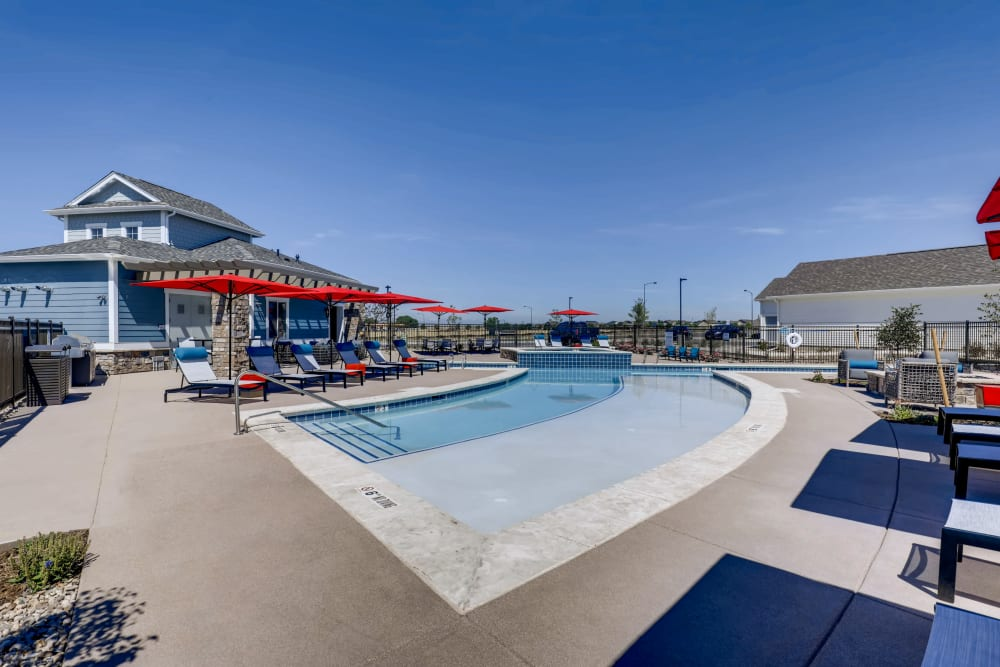 Sun-deck at Avilla Buffalo Run in Commerce City, Colorado