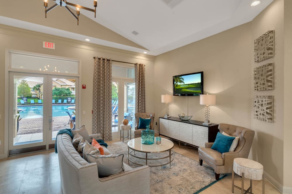 Luxury clubhouse at Palms at World Gatewayin Orlando, Florida