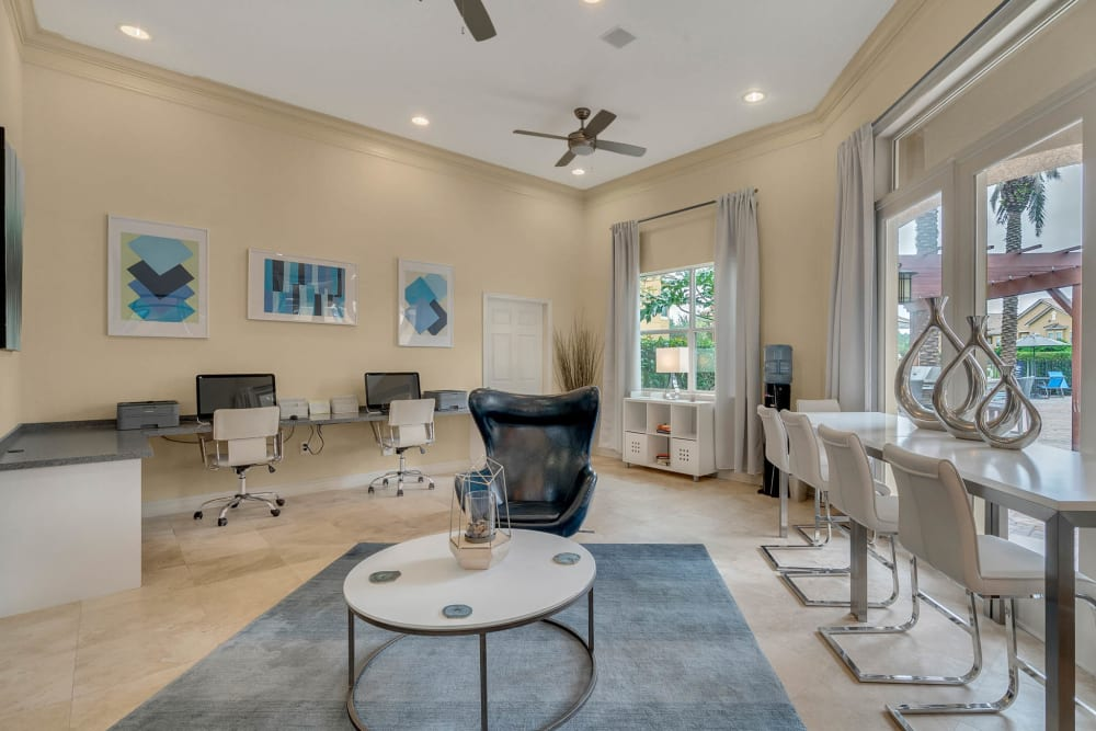 Well equipped business center at Palms at World Gateway in Orlando, Florida
