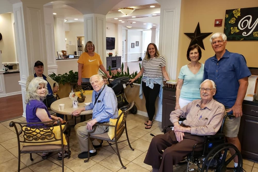 Residents in common area at Parsons House Frisco in Frisco, Texas