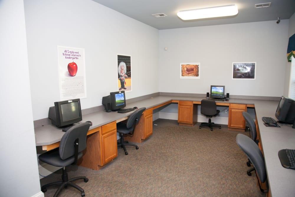 A business center at Peine Lakes in Wentzville, Missouri