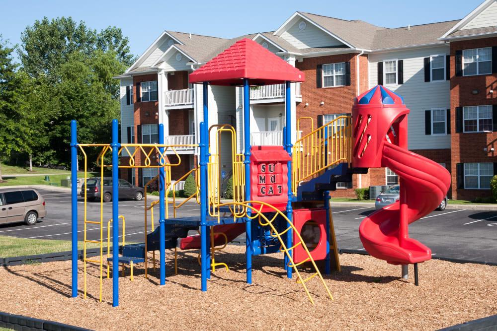 A large playground at Peine Lakes in Wentzville, Missouri